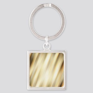 champagne color abstract pattern Square Keychain