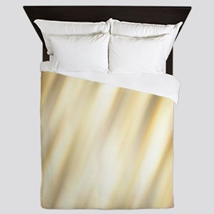 champagne color abstract pattern Queen Duvet