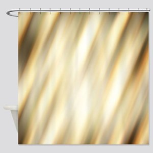 champagne color abstract pattern Shower Curtain