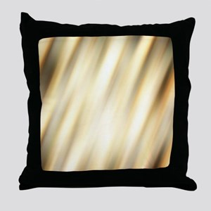 champagne color abstract pattern Throw Pillow
