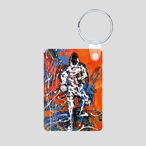 Abstract Epee_4 Aluminum Photo Keychain