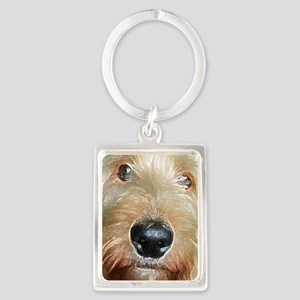 Big black squishy nose Portrait Keychain