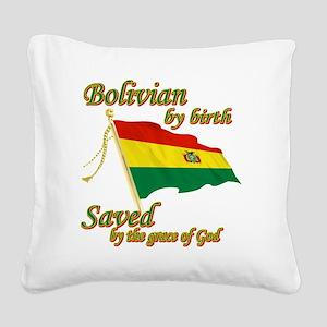 bolivianew Square Canvas Pillow