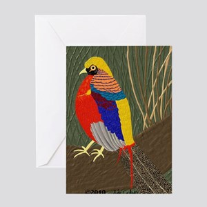 GoldenPheasantPillow Greeting Card