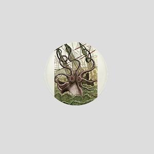 Giant Squid vs. Pirates color Mini Button