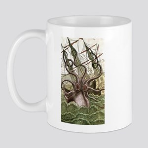 Giant Squid vs. Pirates color Mug