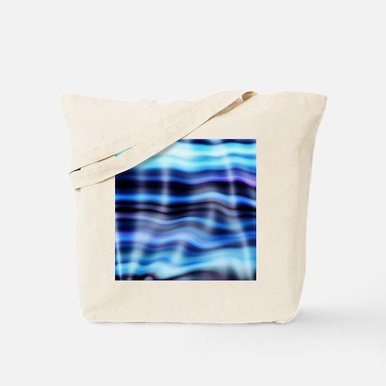 blue water ripples ocean beach decor Tote Bag