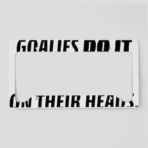 goaliesdoitart License Plate Holder