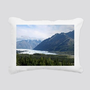 Matanuska Glacier Rectangular Canvas Pillow