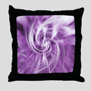 purple lilac water ripples ocean beac Throw Pillow