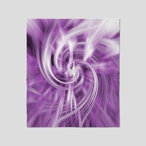 purple lilac water ripples ocean bea Throw Blanket