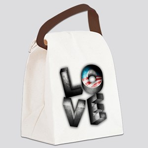 love-obama Canvas Lunch Bag