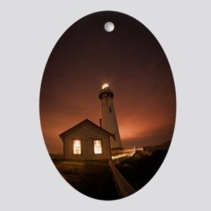 Pigeon Point Lighthouse Oval Ornament