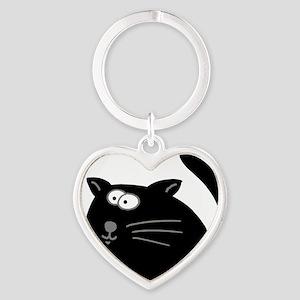 Cat 5atr Heart Keychain