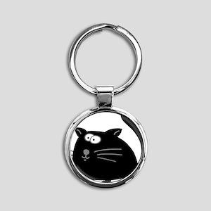 Cat 5atr Round Keychain
