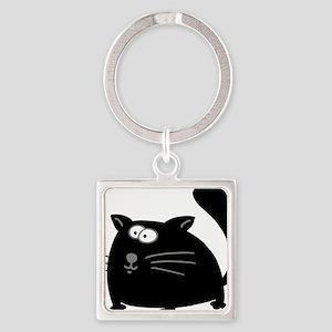 Cat 5atr Square Keychain