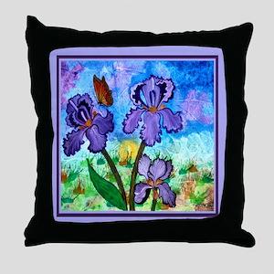 Iris At Sunrise Lavender 18 Inch Throw Pillow