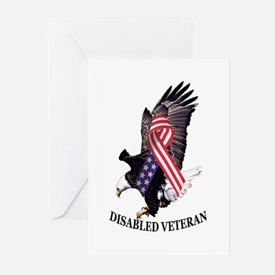 Disabled Veteran Eagle and Ribbon Greeting Cards (