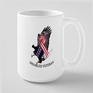 Disabled Veteran Eagle And Ribbon Large Mug Mugs