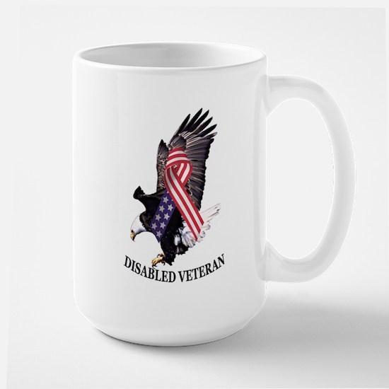 Disabled Veteran Eagle and Ribbon Large Mug