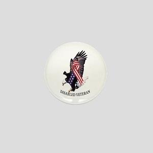 Disabled Veteran Eagle and Ribbon Mini Button