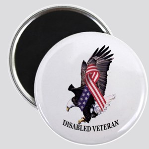 Disabled Veteran Eagle And Ribbon Magnet