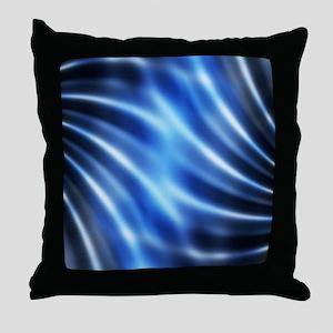 blue water ripples ocean beach decor Throw Pillow