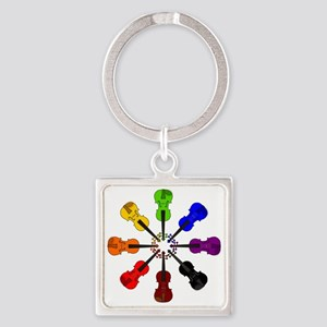 circle_of_violins Square Keychain