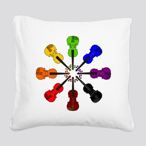 circle_of_violins Square Canvas Pillow