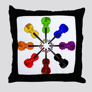 circle_of_violins Throw Pillow