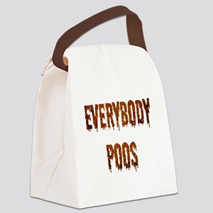 Everybody poos buttons Canvas Lunch Bag