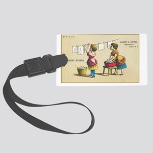 Graves Laundry Starch Vintage Ad Large Luggage Tag