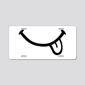 Smiley Tongue Mouth Aluminum License Plate