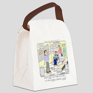 JACK1-blk Canvas Lunch Bag