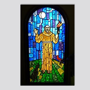 St. Francis Stained Glass Postcards (Package of 8)