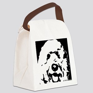 labradoodle_bw Canvas Lunch Bag