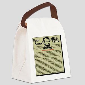 fourscorenew2 Canvas Lunch Bag