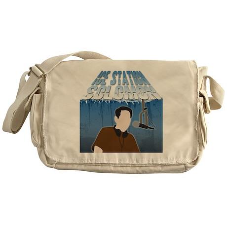 IceStationSolomonBlack Messenger Bag