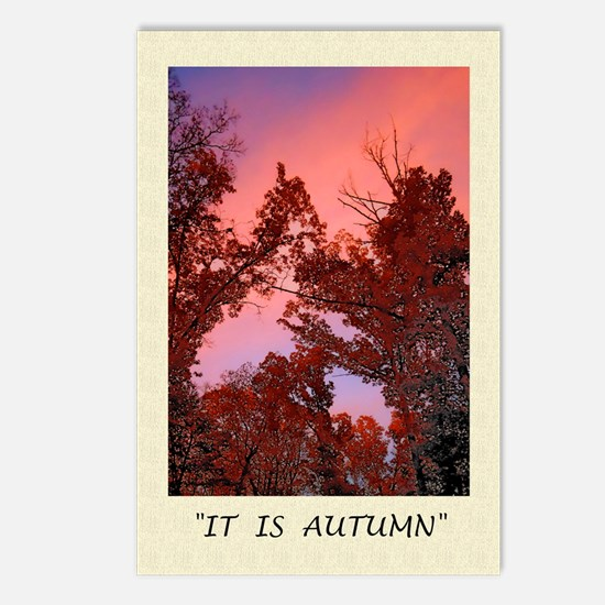Autumn Sunset, Fall, Poet Postcards (Package of 8)