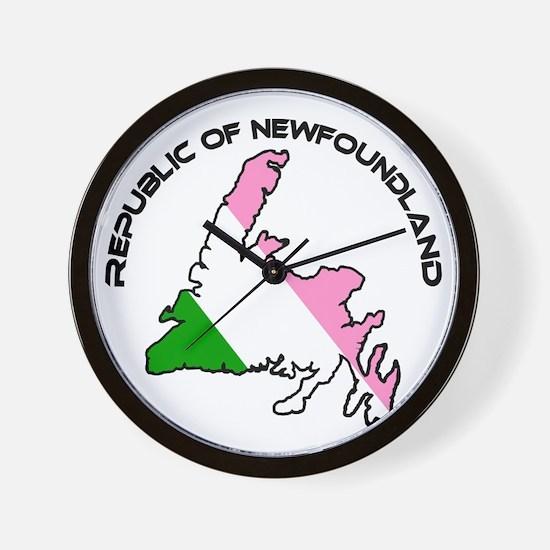 Republic of Newfoundland with Island an Wall Clock