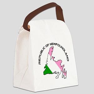Republic of Newfoundland with Isl Canvas Lunch Bag
