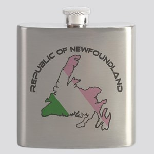Republic of Newfoundland with Island and arc Flask