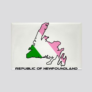 Republic of Newfoundland with Isl Rectangle Magnet