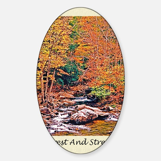 Autumn, Fall Classical Old Poetry G Sticker (Oval)