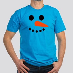Snowman Face Men's Fitted T-Shirt (dark)