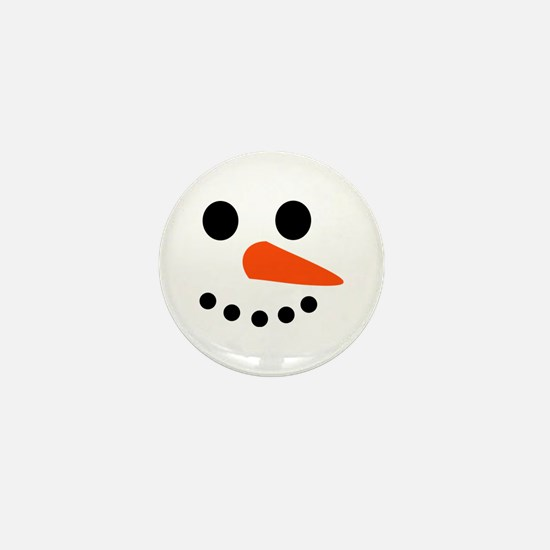 Snowman Face Mini Button