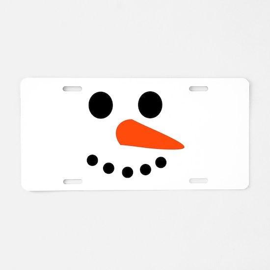 Snowman Face Aluminum License Plate