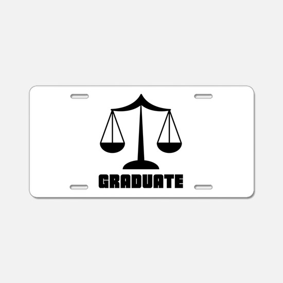 Law School Grad Class 2012 Aluminum License Plate