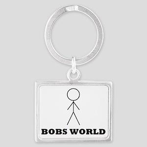 bobsworldlogo Landscape Keychain