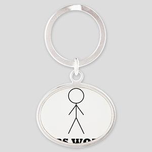 bobsworldlogo Oval Keychain